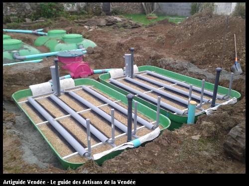 assainissement avec filière compacte EPARCO 10EH